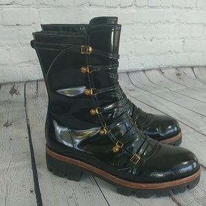 Jeffrey Campbell | Black Lug Sole Combat Boots 10